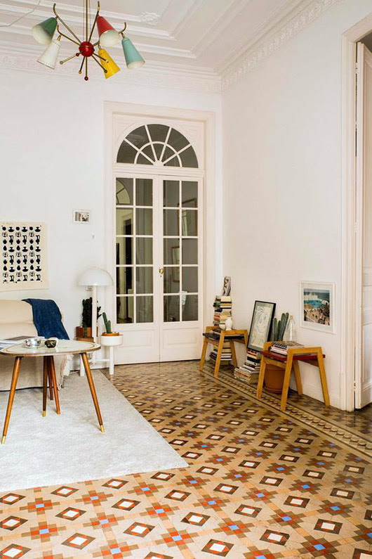 eclectic barcelona home of designer paloma lanna via architectural digest. / sfgirlbybay