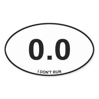 0.0 Non Runner zazzle_sticker