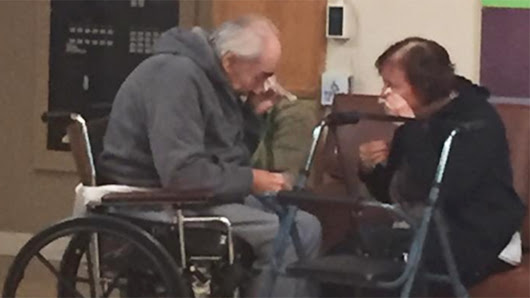 Elderly couple cry after being forced to live in separate nursing homes