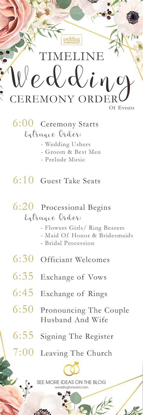 5 Wedding Ceremony Order Of Events Ideas (INFOGRAPHIC
