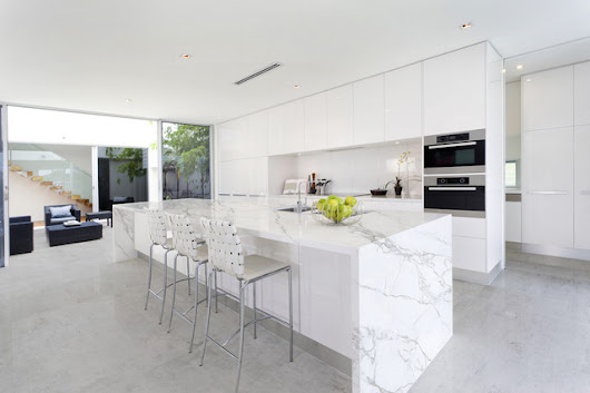 Finished projects - Contemporary - Kitchen - miami - by Omicron Granite & Tile