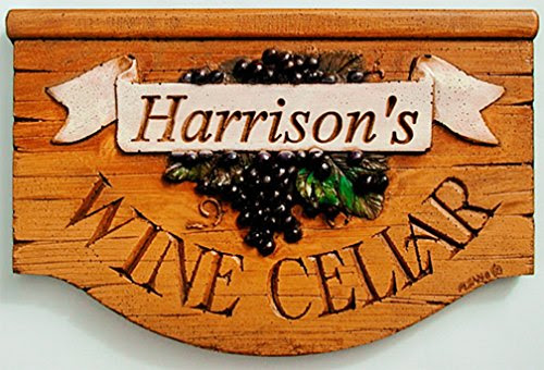 Wine Cellar Personalized Wall Sign Plaque