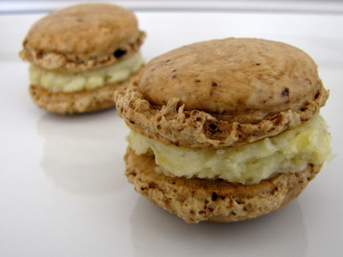 Coffee Macarons with Chestnut Cream Filling