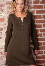 linQ Sweater Pintuck dress