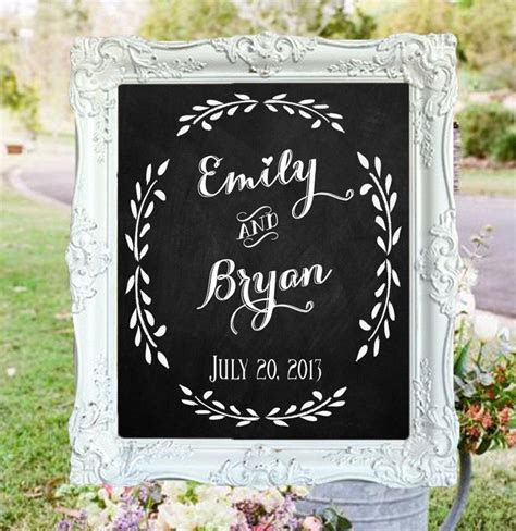 "Wedding Chalkboard  ""Welcome to the Wedding of"" with"