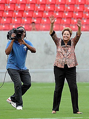 Dilma na Arena Pernambuco (Foto: Aldo Carneiro / Pernambuco Press)