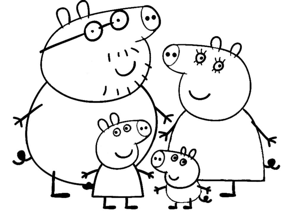 Peppa Pig Mania Disegni Da Colorare Famiglia Peppa Pig Mania