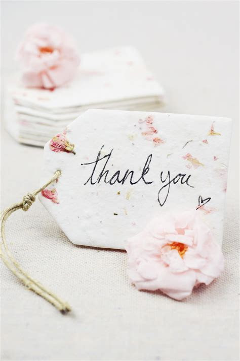 "32 Pink Larkspur Petal Seeded Paper Tags 2.5"" x 3.375"