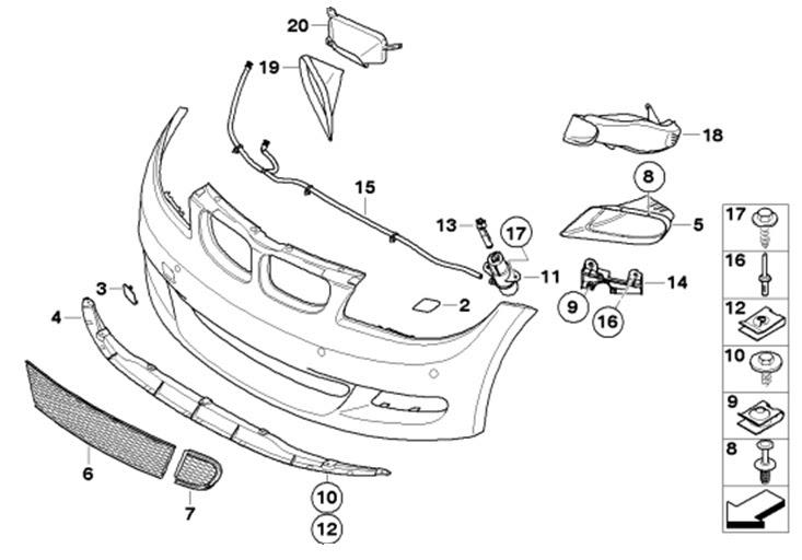 35 Bmw Front Bumper Parts Diagram