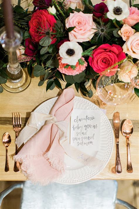 Pink and rose gold tablescape   Wedding & Party Ideas