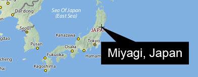 Miyagi Japan map (Navteq/Y! Maps)