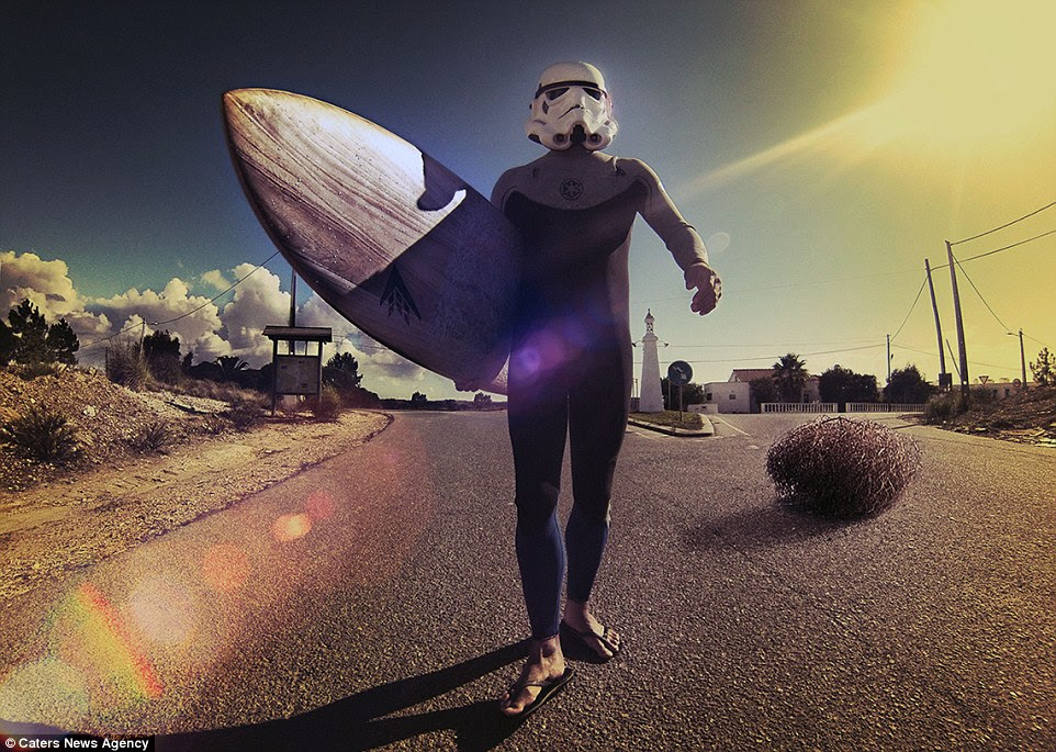 Star tours! His blog documented his 12 month trip and soon gathered 30,000 followers, which prompted him to plan a surfing Stormtrooper book for charity