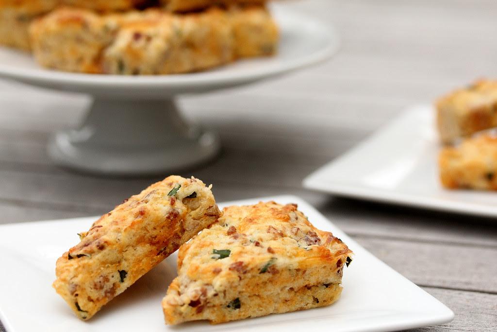 Mini Pancetta-Cheddar-Chive Scones