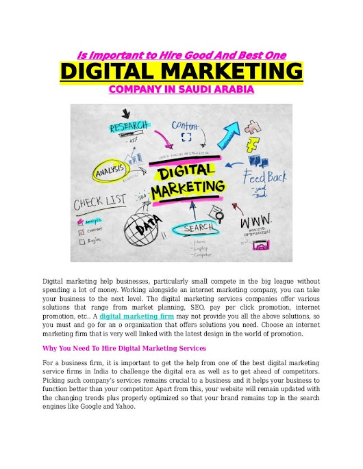 Is important to hire good and best one digital marketing company in s…