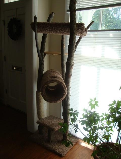 Comfortable Adventures Homemade Rustic Cat Tree