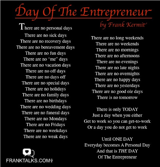 Day Of The Entrepreneur Poem