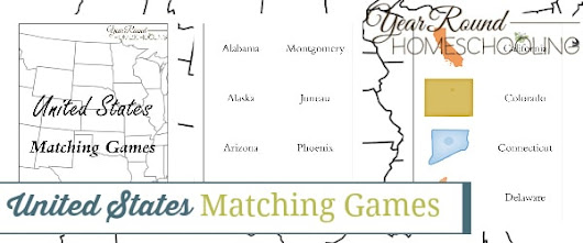 United States Matching Games - Year Round Homeschooling