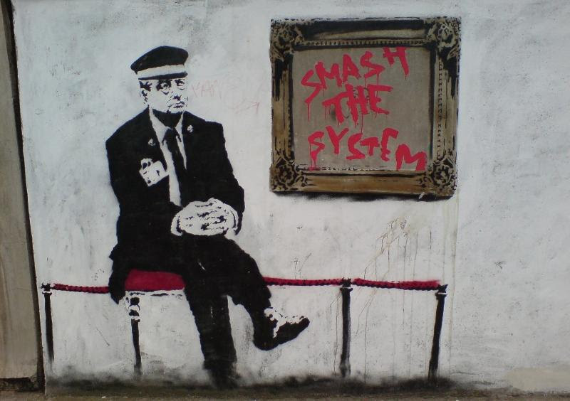 Banksy Smash The System