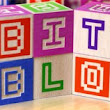 Bitblox, Wooden Alphabet Blocks Inspired by Low-Res Pixel Lettering
