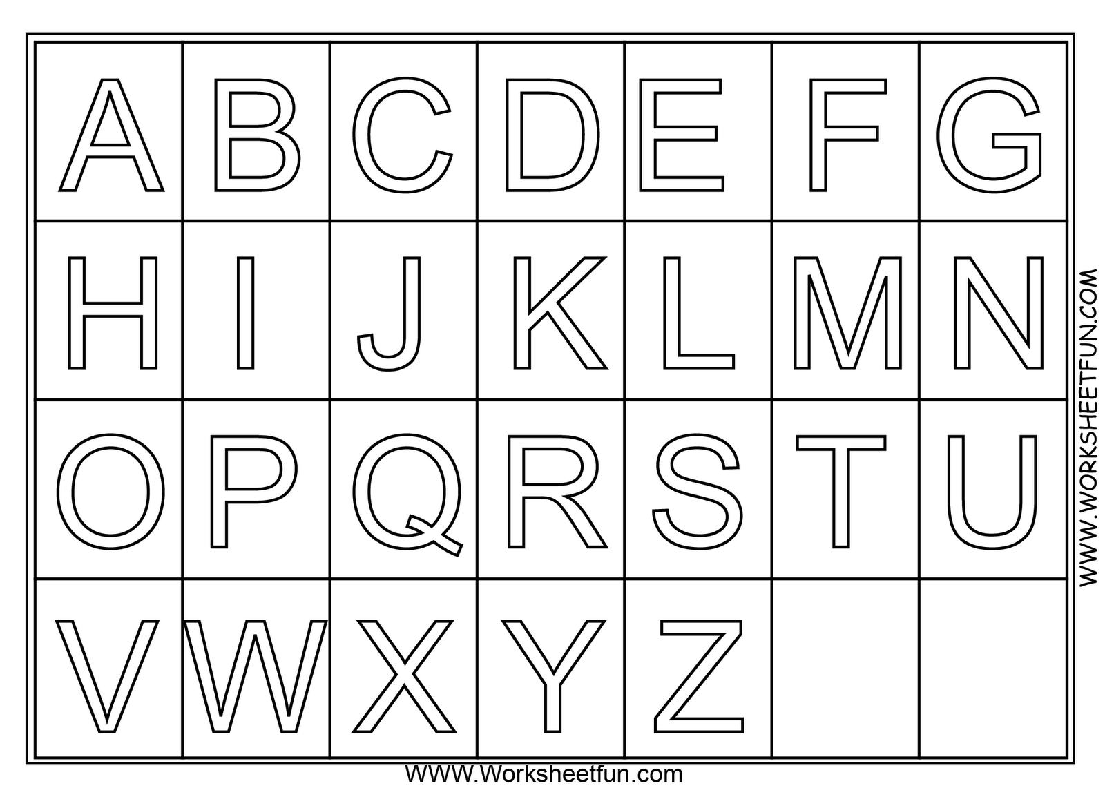 A z alphabet coloring pages download and print for free | pre k ...