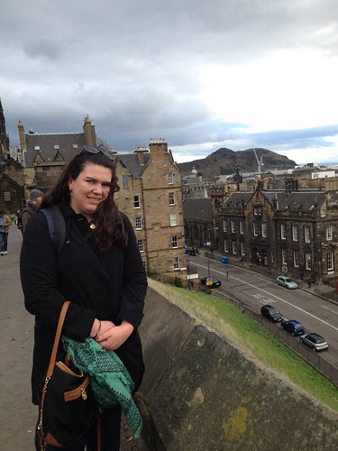 Me In Front Of Old Town Edinburgh