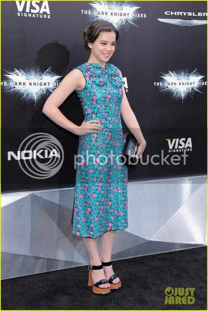 Hailee Steinfeld The Dark Knight Rises NY Premiere