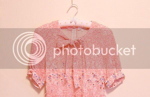 70s vtg pink floral dress