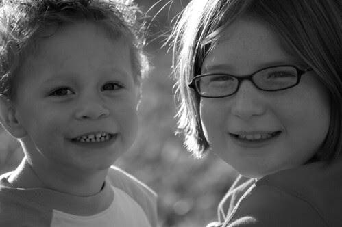 Garrett and Maggie (6) - black and white