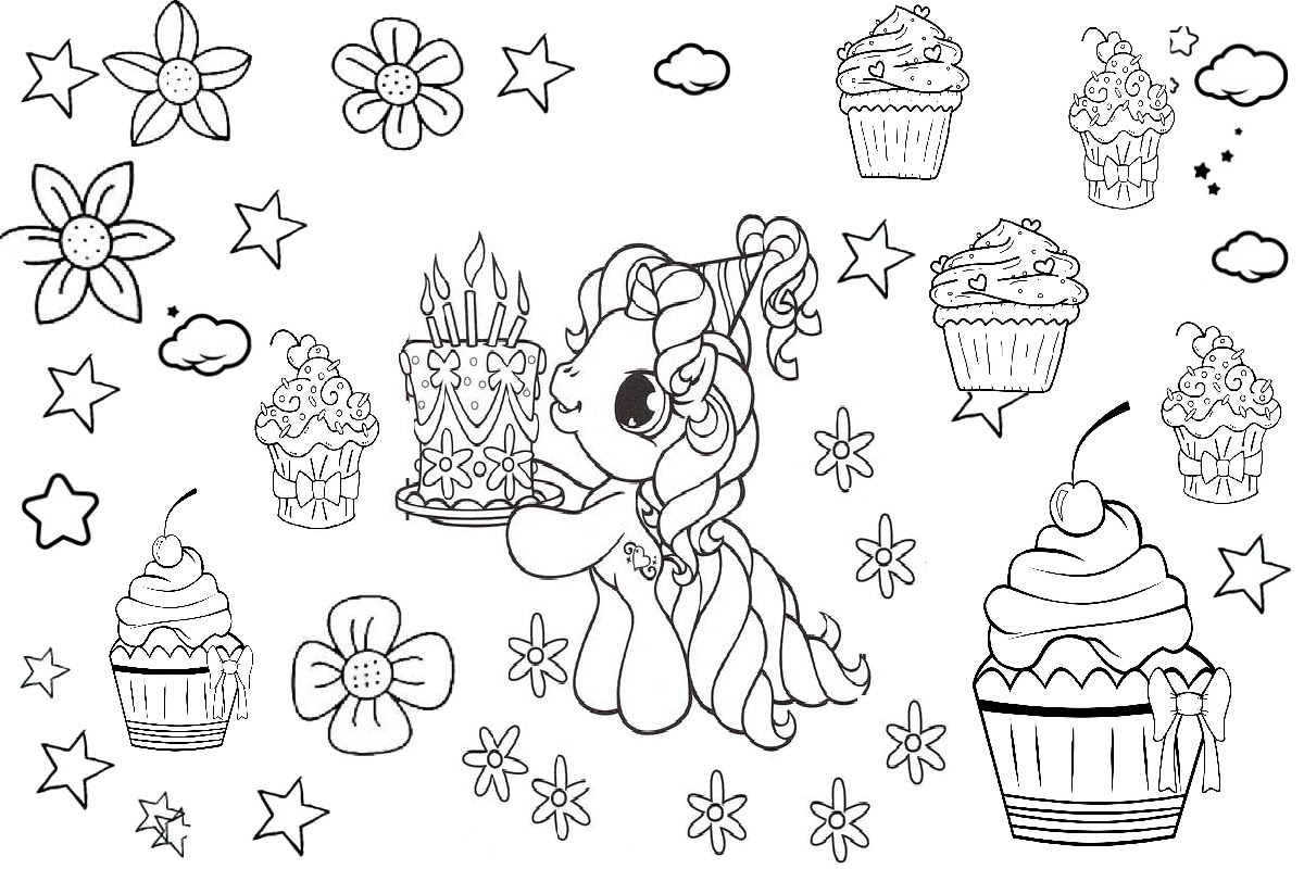 58 Top Unicorn Coloring Pages Birthday Images & Pictures In HD