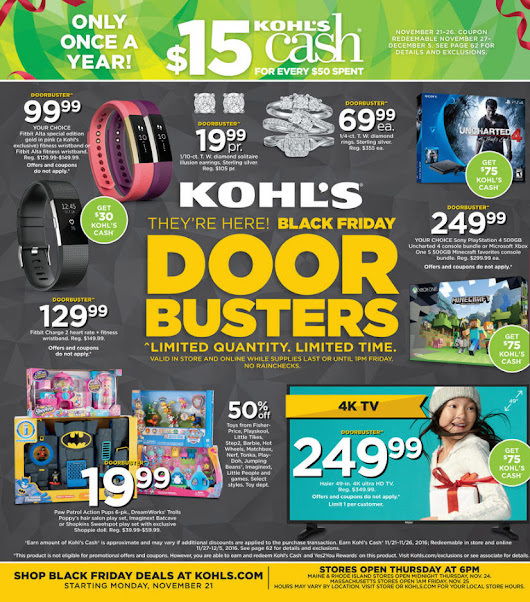 Kohl's Black Friday 2016 Doorbuster ad circular released (see all 64 pages)