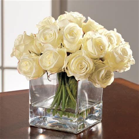 Rosebuds in Square Vase