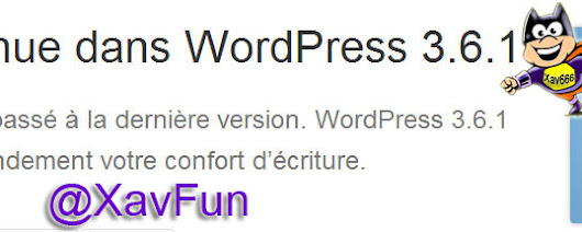 Mise à jour Wordpress en 3.6.1