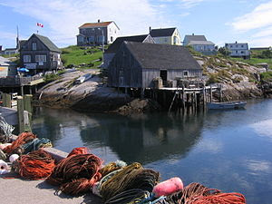 Harbour of Peggys Cove, Nova Scotia Français :...