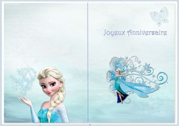 Carte Joyeux Anniversaire A Imprimer Reine Des Neiges Invitation Fiolazoezoey Blog