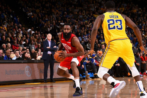 aaf4255f9048 NBA  James Harden sinks Warriors with multiple clutch threes