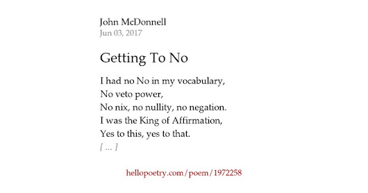 Getting To No by John McDonnell