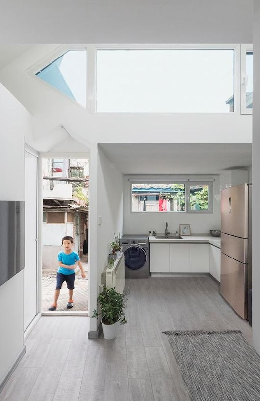 A Flat Pack Type House Designed To Fit In A Tight Space & Be Affordable