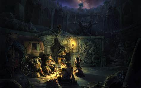 anthro fantasy art campfire wallpapers hd desktop