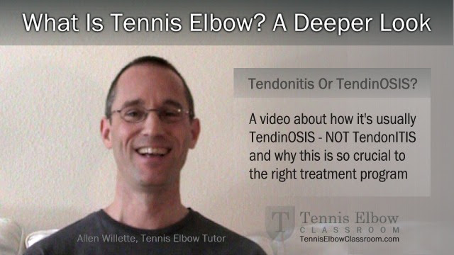 Image: Tennis Elbow Tendonitis Or Tendinosis?