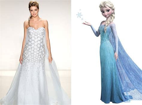 Elsa from Alfred Angelo?s Disney Princess Wedding Gowns