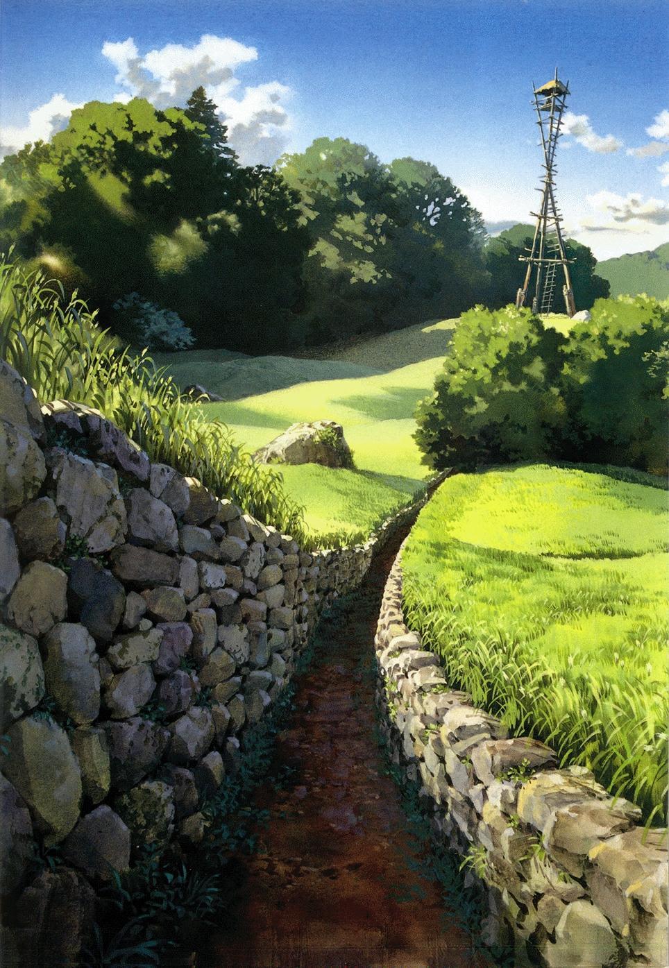 めぐみ日報 癒されまくるジブリの風景壁紙アート