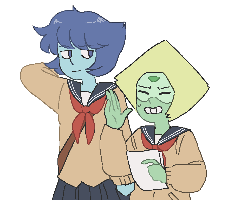 i got lazy but peridot does not like her grade