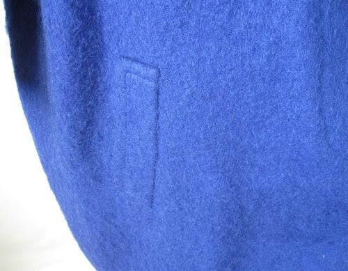 Blue coat welt pocket