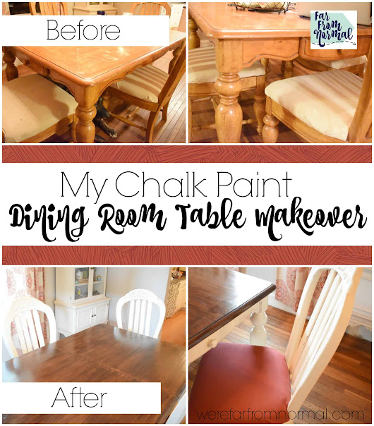 My Chalk Paint Dining Room Table Makeover | Far From Normal