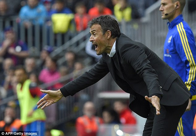 Luis Enrique is hoping to lead Barcelona to their third La Liga title in the past four seasons