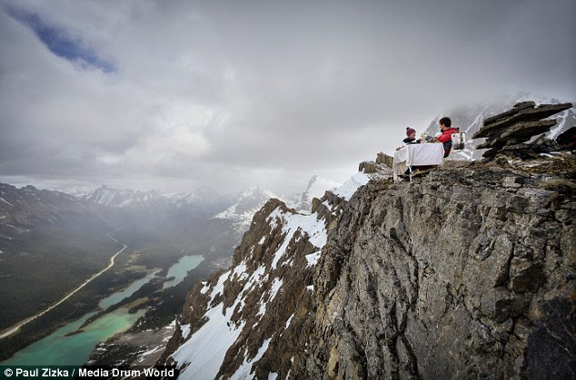 Shannon described Ross's proposal on a peak of Little Crowfood Mountain as 'an incredible unreal surprise'