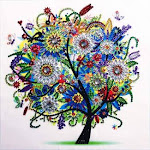 FUXU Embroidery Painting,Winter Colourful Tree 5D Special Shaped Diamond Painting Embroidery Needlework Rhinestone Crystal Cross Craft Stitch Kit DIY