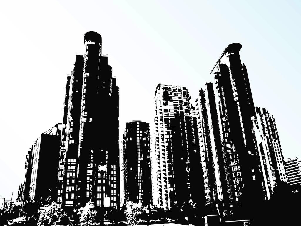 Tall Buildings Vector Vector Art & Graphics | freevector.com
