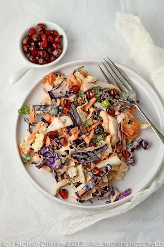 Spicy harissa coleslaw with pomegranate