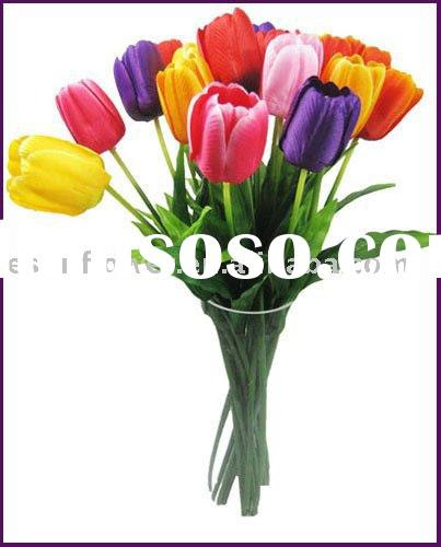 Decorative 9 heads tulip artificial flower for sale  Price,China Manufacturer,Supplier 110047